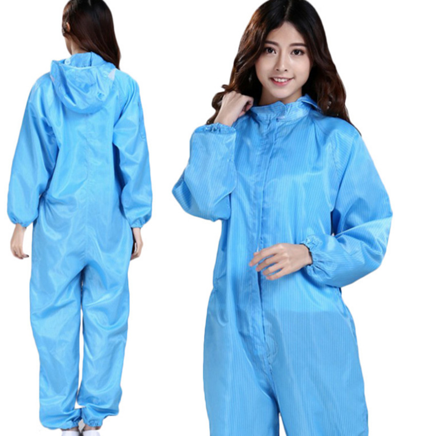 S-3XL Coverall Hooded Non-Woven Disposable Protective Clothing Hazmat Suit Protection Isolation Gown Factory Safety Clothing Unisex FY4003