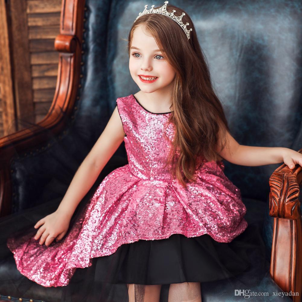 Sequin Blumenmädchenkleider Ballkleider Kind-Festzug-Kleider Schöne kleine  Kinder Flower Kleid Formal Wear Plus Size