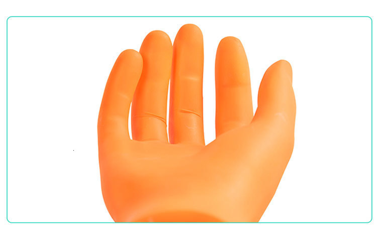 AMMEX KNG 20pcs Disposable Nitrile Gloves For Children Kids Multipurpose Work Glove Protective Non-Slip Painting Clean (5)