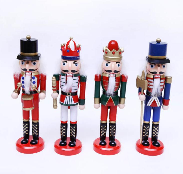 Soldier-flag Nutcracker Christmas Decorations Classical Soldier Nutcracker Doll Puppet For Christmas Tree Decoration Pendant