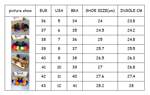 Factory Direct Wholesale Women Fur Ball Slides Non Slip Soft Fox fur sandals