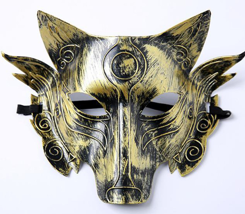 Scary Wolf Head Masks Masquerade Costume Halloween Party Masks Creepy Animal Mask For Adult Cosplay Prop