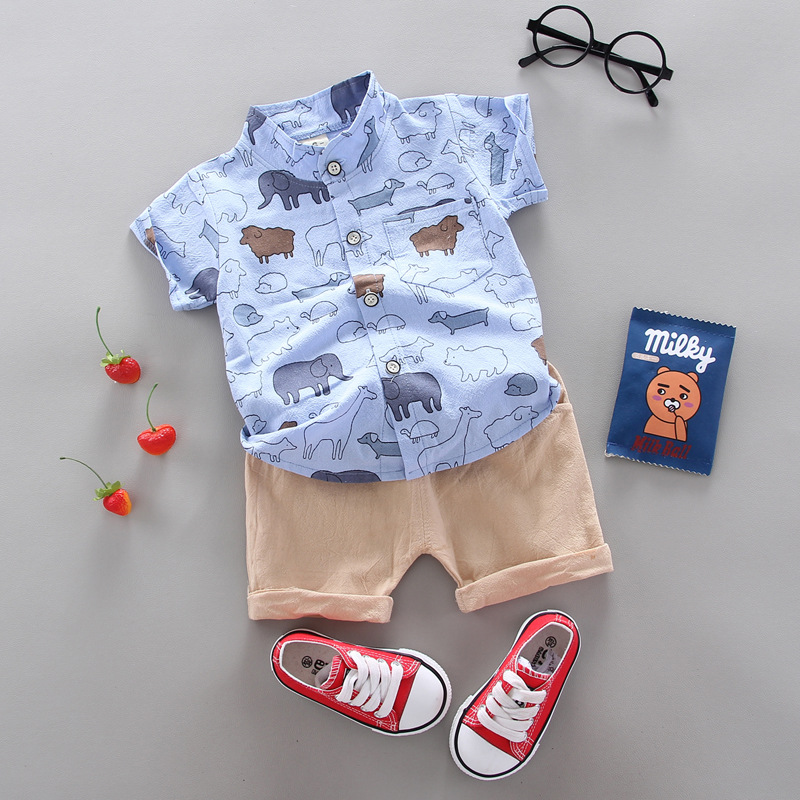 Factory Price Manufacturer Supplier Boutique Shirt Set Summer Suit Kids Wear Sets
