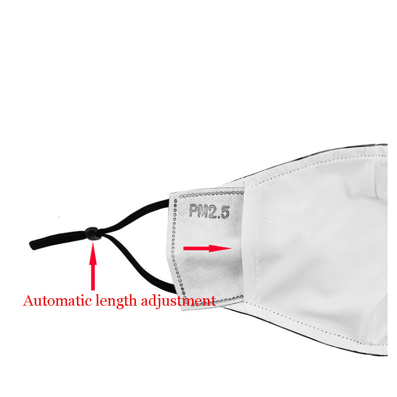 2020 New Hot Sell 3D Digital Printing Kids Face Mask Dustproof Smog-Proof Protective Mask 2.5PM Filter Adjustable Washable Reusable Mask