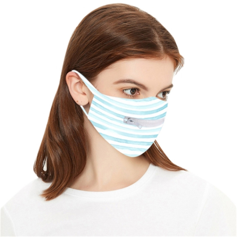Personality Fashion Face Mask Zipper Design Washable Reusable Protective Masks Dust-proof Breathable Cycling Mask DHL