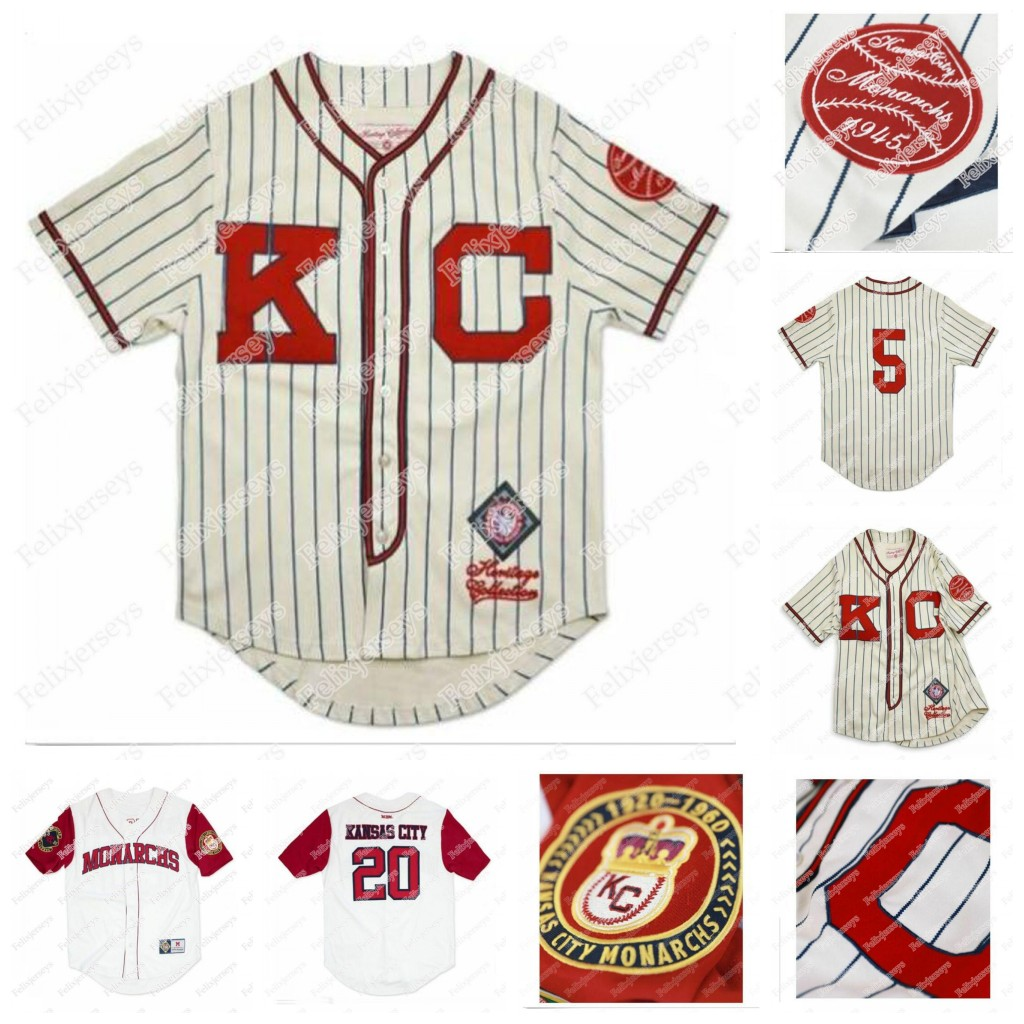 Kansas City Monarchs NLBM Negro Leagues Baseball Jersey 5 Jackie Robinson Kansas City Monarchs Negro League Jersey Stitched Name and Number
