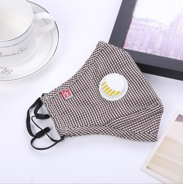 Anti Dust Mask with valve PM2.5 Breathing Filters Protective Face Mouth Cotton Masks Respirator Reusable Anti Fog Haze Adult LXL1410