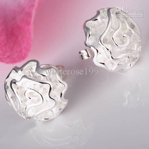 Wholesale - lowest price Christmas gift 925 Sterling Silver Fashion Earrings yE003