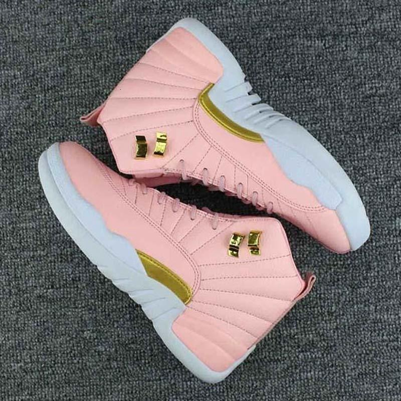 2019 New Jumpman 12 women GS Pink Lemonade outdoor shoes girls 12s 12 Pink Lemonade outdoor shoes