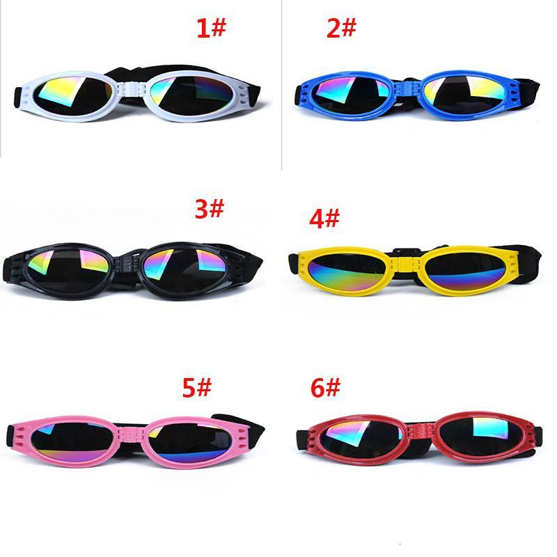 Dog Glasses Fashion Foldable Sunglasses Medium Large Dog Glasses Big Pet Waterproof Eyewear Protection Goggles UV Sunglasses dc570