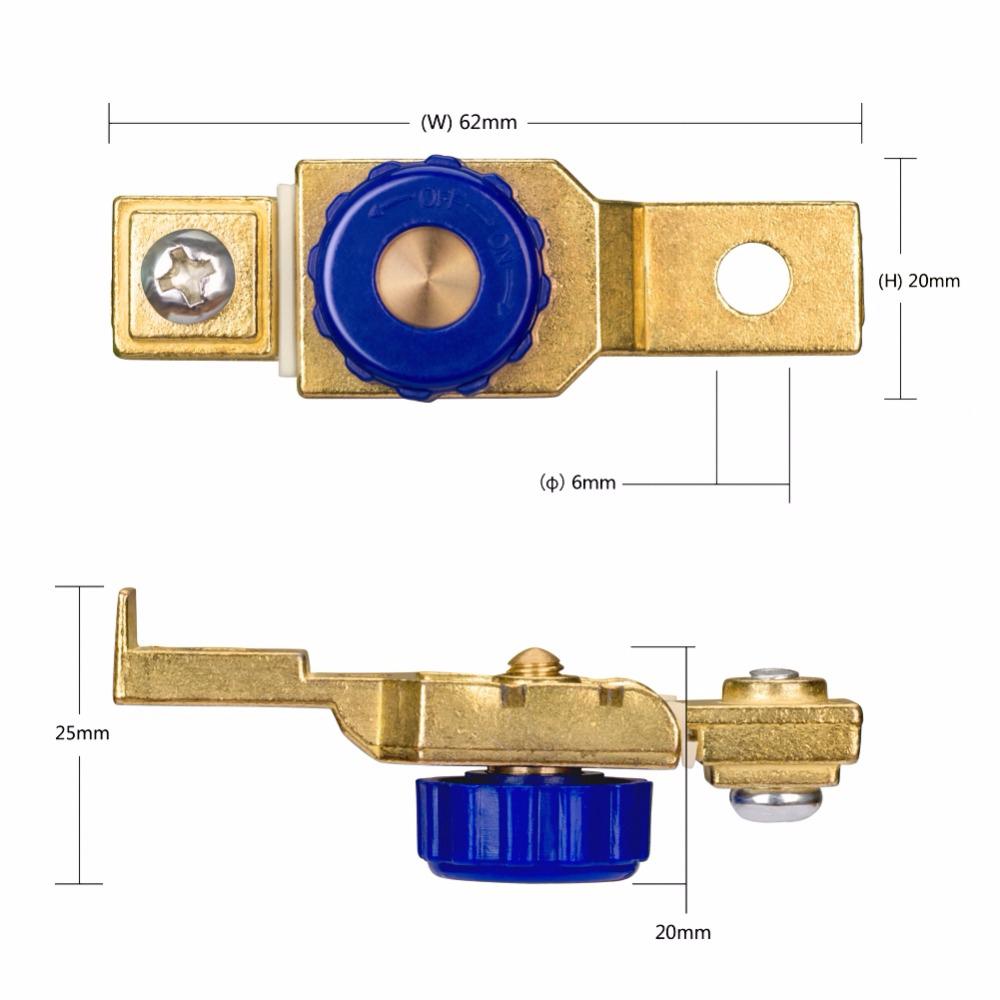 Meisijia Interruptor de la Motocicleta bater/ía Cortar el Terminal Interruptor Anti-Fugas del Lado del Coche del Anuncio Interruptor de bater/ía DC12V 80A
