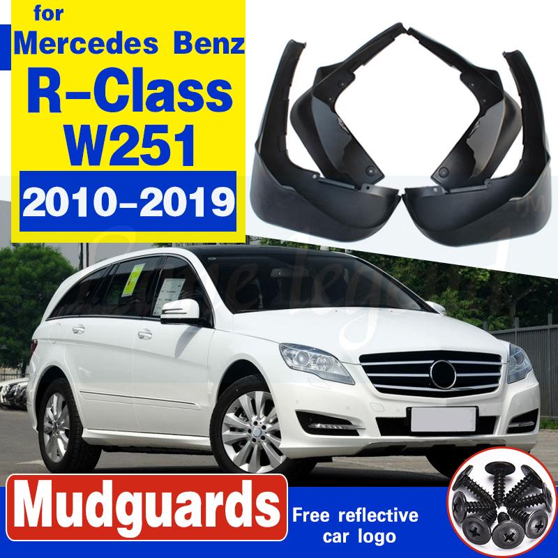 CCIG 4Pcs Noir Garde-Boue pour Benz V-Class Vito 2016-2020 Avant Arri/ère Bavettes Modification Voiture avec Vis Fixation Accessoires Fender Pleine Protection Roue Salet/é