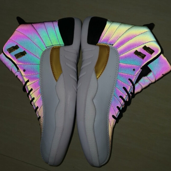2019 Jumpman XII 12 12s Chameleon 3M Reflect Flash Of Light Basketball Shoes for Men High Quality Sports Athletic Sneaker Man Trainers 7-13
