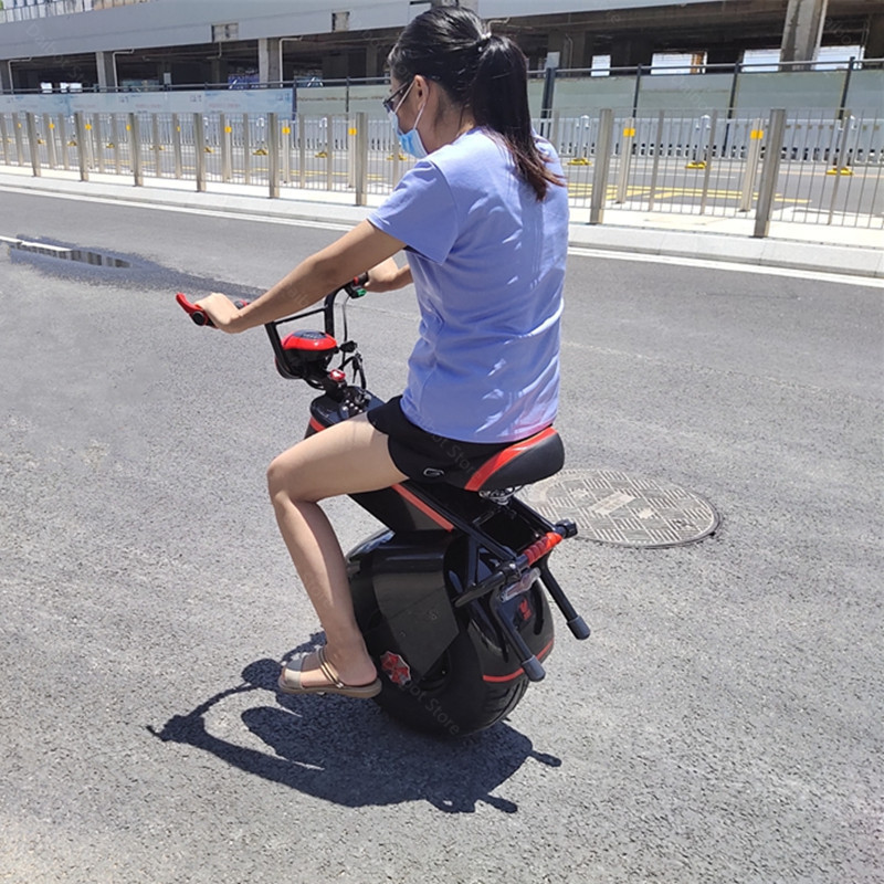 Electric Scooter 1500W One Wheel Self-balancing Scooter Motorcycle Seat 110KM 60V Electric Monowheel Scooter 18 Inch Wide Wheel (25)