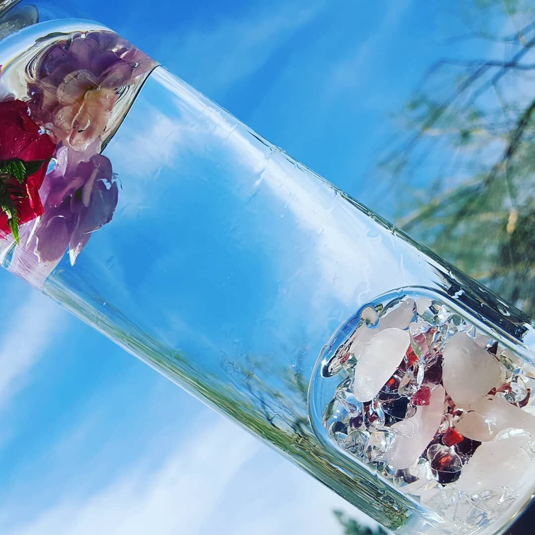 Natural crystal Gemstone Glass water bottle Hydrotherapy Health cup Gem water bottle Energy bottle for gifts