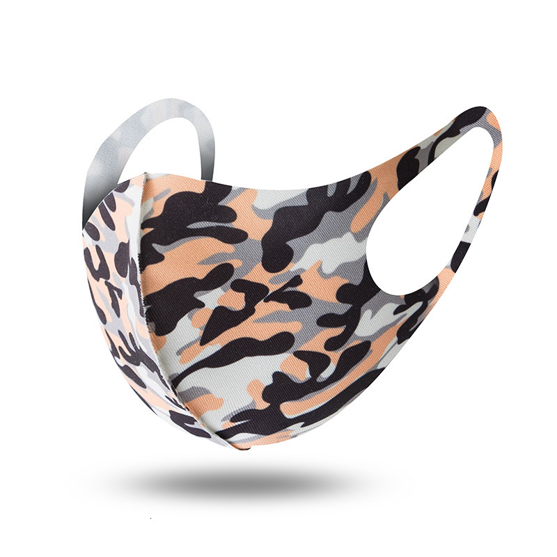 Camouflage Masks for Men Women Dustproof Anti-dust Anti-smog Breathable Washable Outdoor Sports Cycling Face Masks Unisex