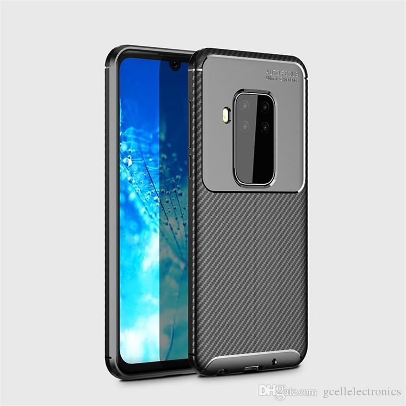 Carbon Fiber TPU Cell Phone Cases For Moto G8 Plus Play G7 Xiaomi 9 Pro Redmi Note 8 8A Slim Shockproof Mobile Case