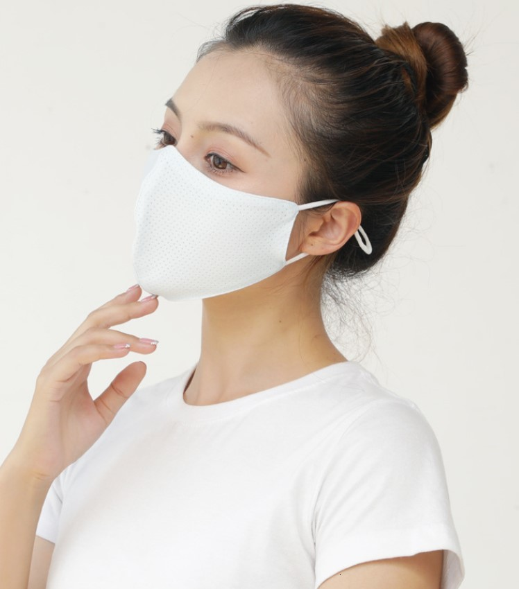 ice silk face mask cloth washable reusable Anti-UV face cover Anti Dust Windproof Mask for adults unisex solid color