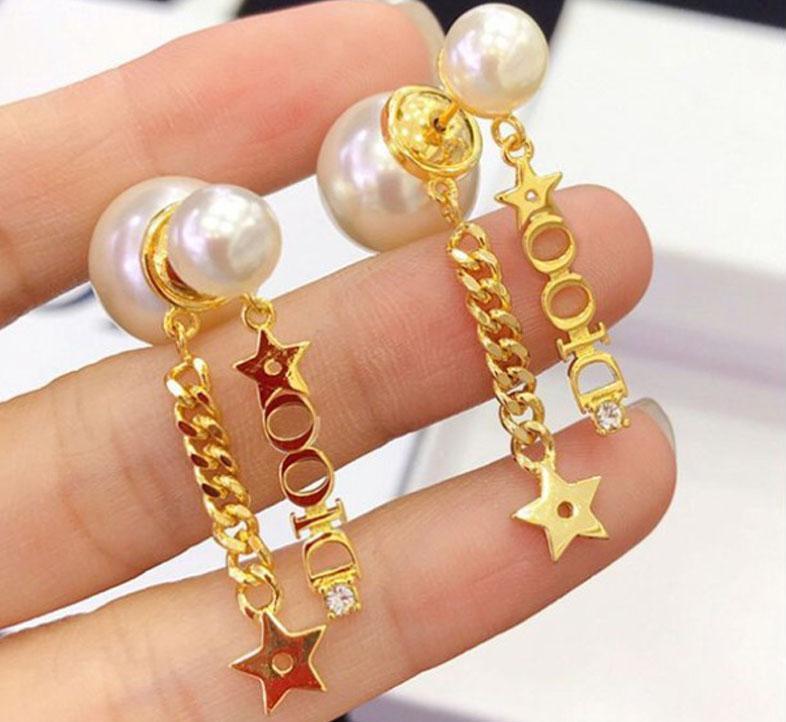 2020 Exquisite wild pearl earrings earrings earrings copper material 18k true gold plated Korean jewelry fde