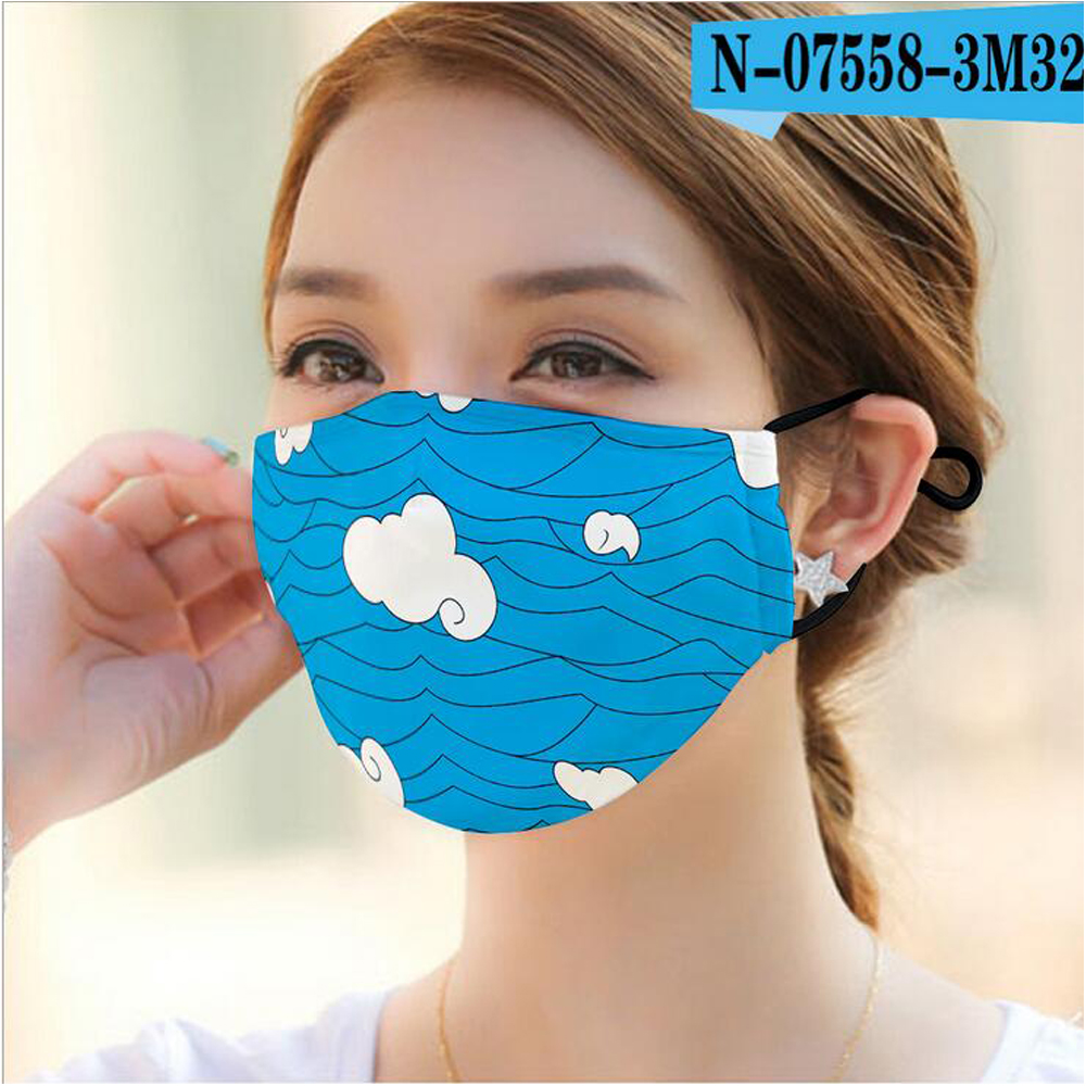 Colorful Printed Face Mask Printing Designs Washable PM2.5 Reusable Female Male Aduts Masks Dustproof Fashion Protective Mask
