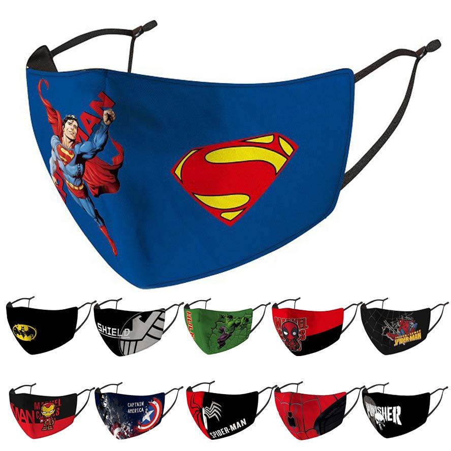 SUPERMAN BATMAN il cavaliere oscuro personaggio Faccia Divertente Festa Party maschere