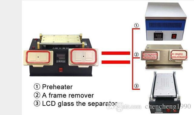 LCD Screen Separator Machine Built in Vacuum Pump Middle Bezel Frame Separator For Samsung Galaxy s2 S3 S4 S5 note 1/2/3/4 S3 s4 mini