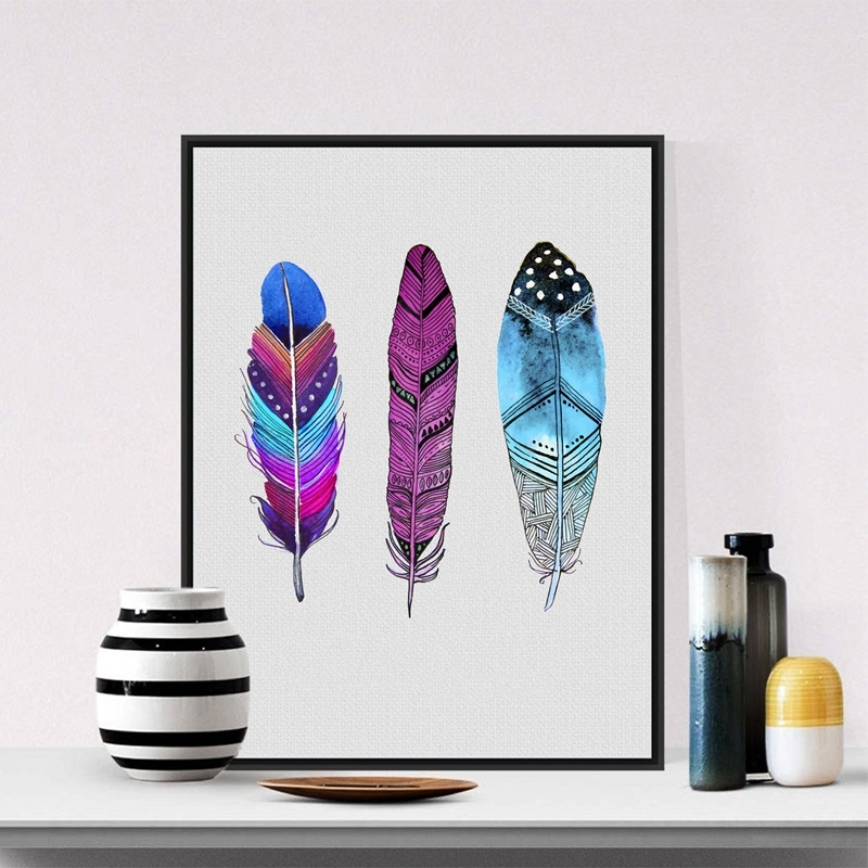 Watercolor-Colorful-Feather-Canvas-Art-Print-Poster-Hand-Drawn-Feathers-Native-Painting-Wall-Pictures-For-Home (5)