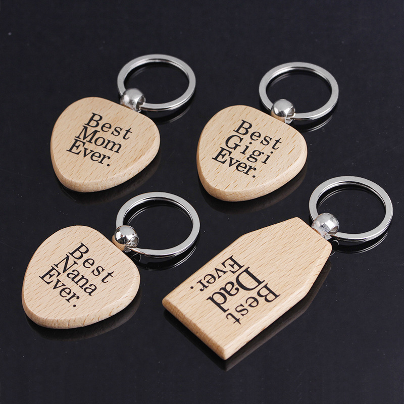Custom blank wooden key chain with printed