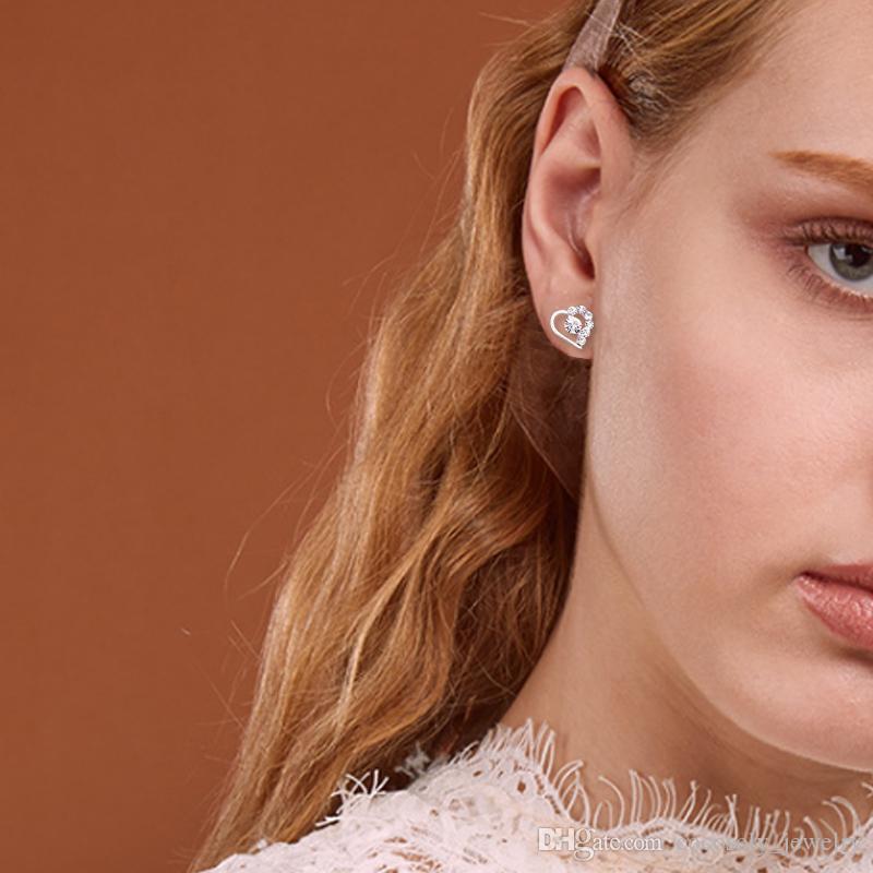 With Card Pack/Ear Back, 45 Styles Korean Earrings Creative Super Shiny Diamond New Pearl Stud Earrings Fashion Jewelry High Quality