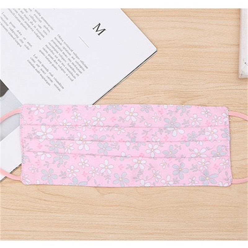 Flower Earloop Reusable Mascarilla Pure Cotton Cloth Face Mask Foldable Protective Girl Mouth Respirator Fashion Anti Dust Washable 2 8as B2