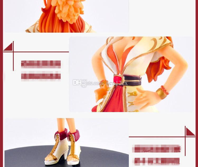 18CM Japanese Anime One Piece 15th Anniversary The straw hat Pirates DXF Nami Grandline PVC Action Figure Model Toy
