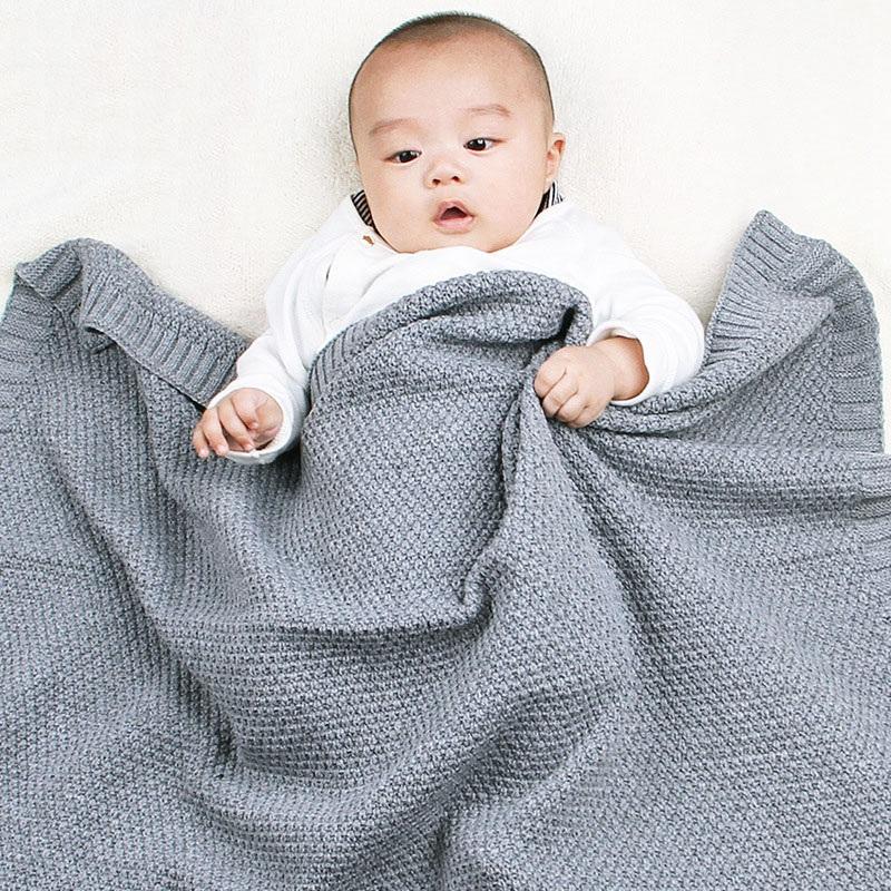 MOTOHOOD Kids Blanket Casual Baby Blankets Knitted Newborn Swaddle Wrap Soft Toddler Sofa Crib Quilt Baby Stroller Blanket (11)