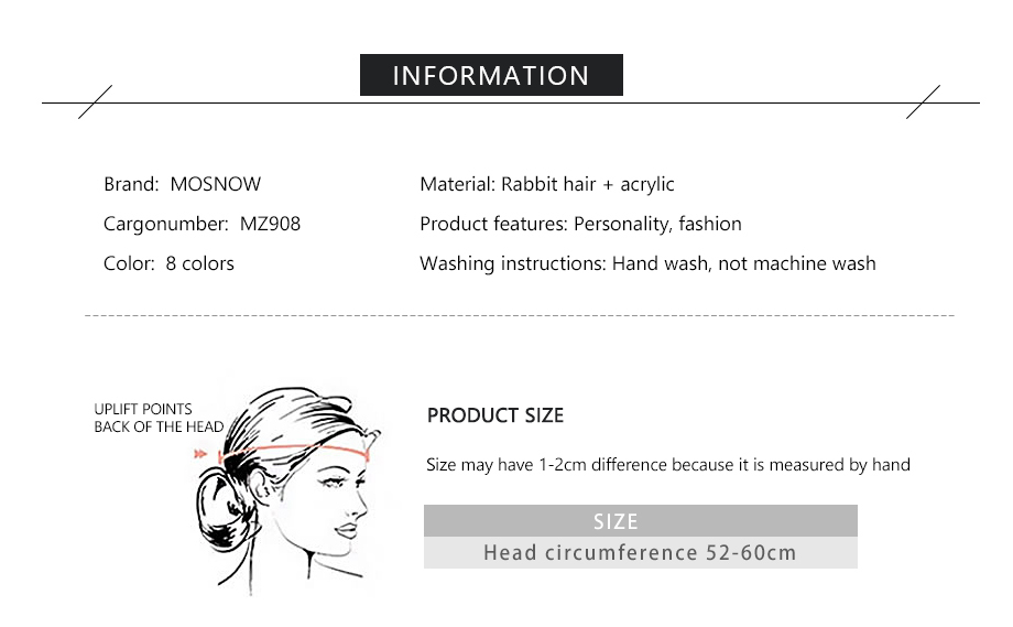 MOSNOW Female Beanies For Girls Cotton High Quality Hat Soft Fashion Accessory Winter New Headwear Brand Hats For Women3 (2)