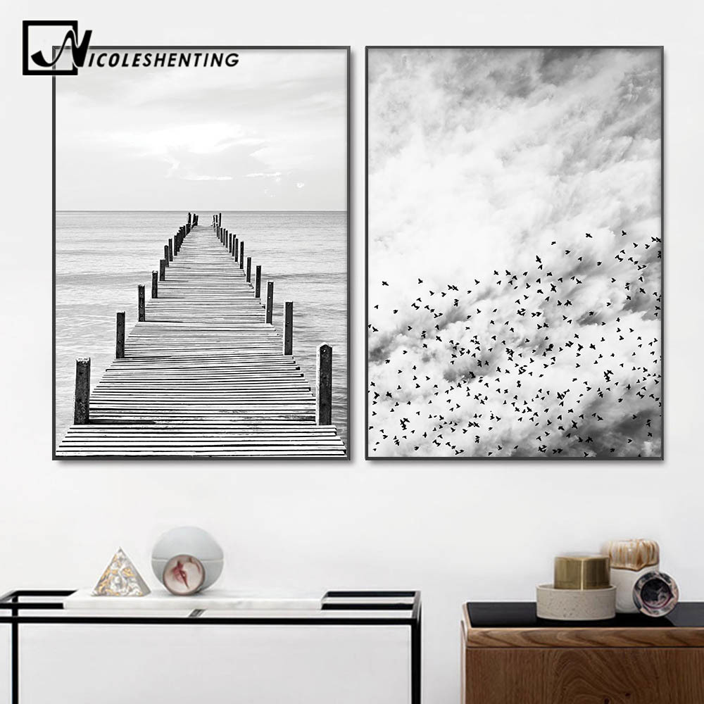 Posters-And-Prints-Wall-Pictures-For-Living-Room-Cuadros-Forest-Sea-Wall-Art-Canvas-Painting-Nordic