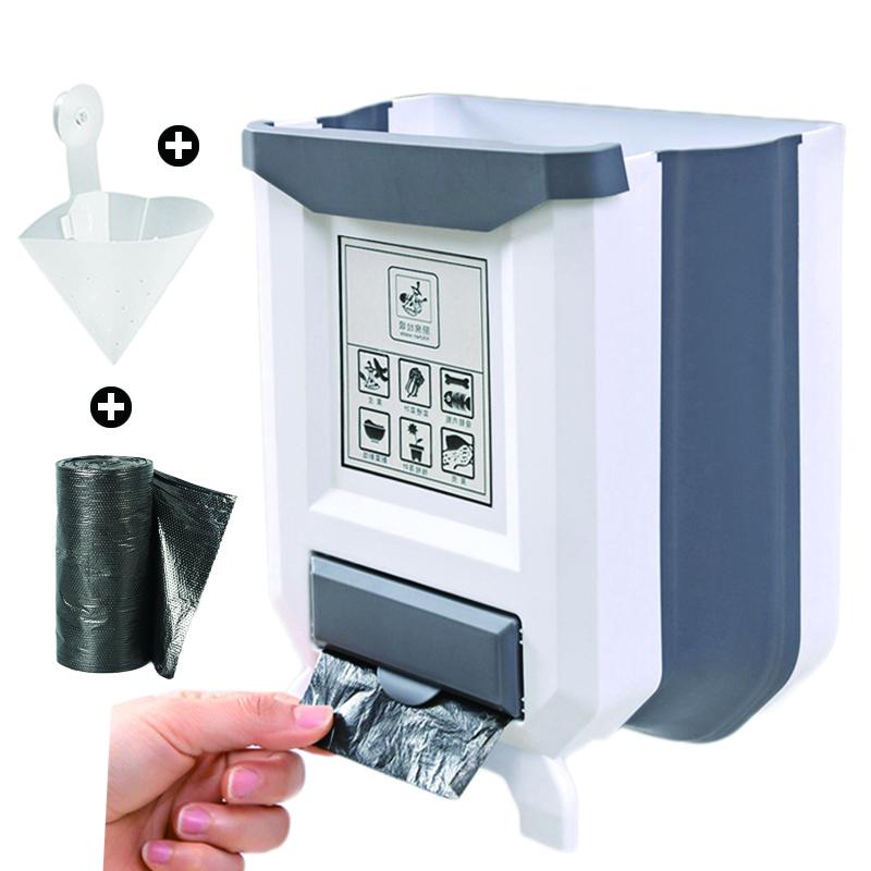 Winbang Bote de Basura multifunci/¨n Puerta Colgando Bote de Basura Cajas de Almacenamiento para Oficina Cocina Cuarto de ba?o Rosa