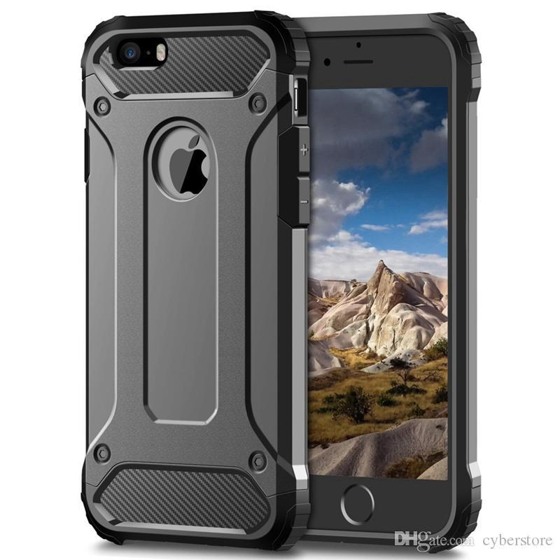 For iPhone 11 Pro Max XS XR 8 Plus Samsung Note 10 Rugged Layered Armor Hard Back Case PC TPU Shockproof Hybrid Cover