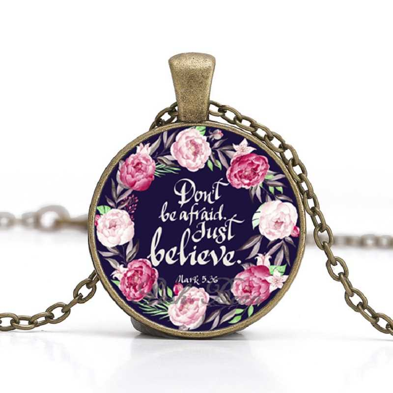 Born This Way Quote Necklace Glass Cabochon Bronze chain Necklace