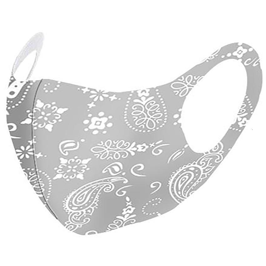 Fashion Paisley Mask 3D Washable Reusable Mask PM2.5 Face Care Shield Sun Color Gold Elbow Sequins Designer Face Party Masks HH9-3210