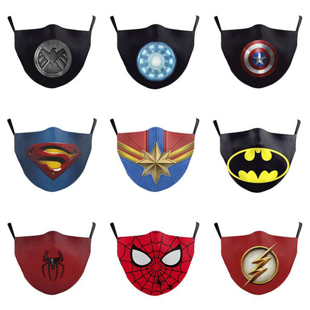 Fashion Batman face mask Breathing Valve Anti Dust Face Mask Folding Without Valve Protective Dustproof PM2.5 designer face masks
