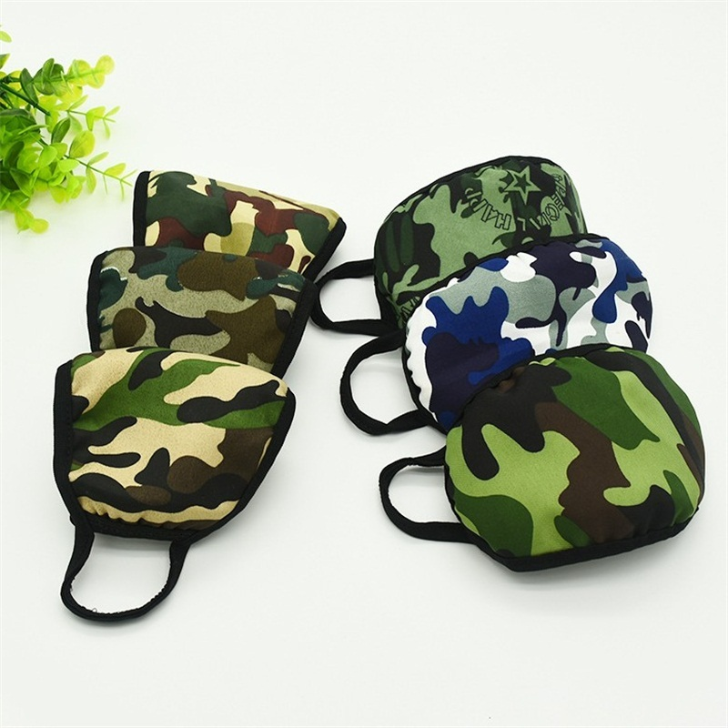 Common Civil Dust Face Masks Camouflage Pattern Cold Proof Winter Mouth Mask Double Layer Protect Respirator Mascherine Reusable 1ry E1