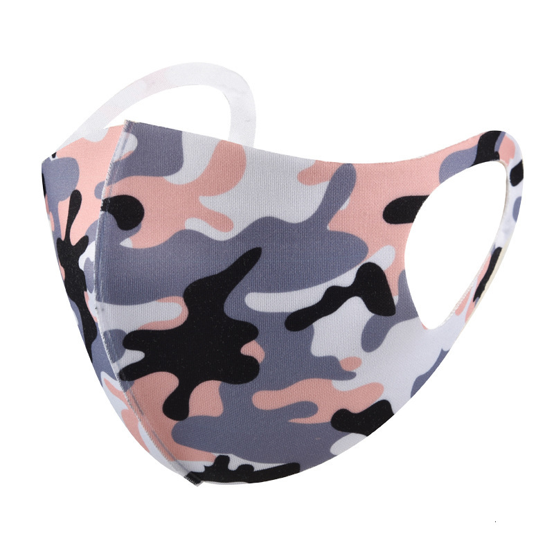 Face Masks Adult Camouflage Face Mask Anti-dust Wind Mouth Mask Unisex Outdoor Riding Mask Washable Breathable Masks Earloop Sanitary