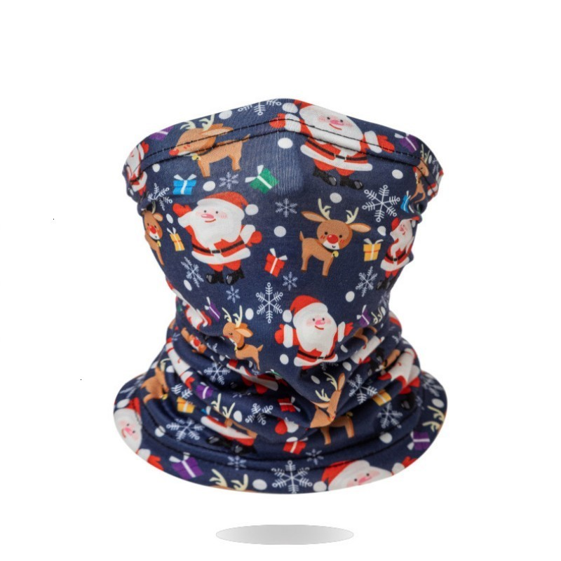 Christmas Bandana Scarf Kids Protective Face Mask Boy Girl Cartoon Neck Gaiter Non-Slip Face Shield for Sun UV Cycling Party Favor LQQ19