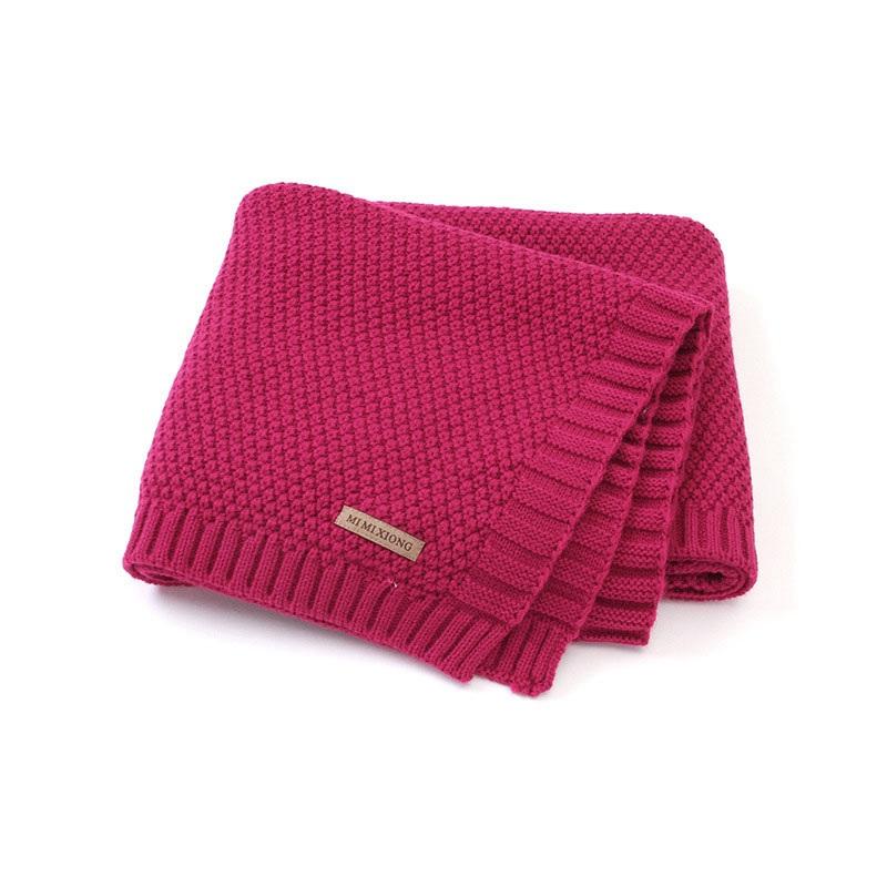 MOTOHOOD Kids Blanket Casual Baby Blankets Knitted Newborn Swaddle Wrap Soft Toddler Sofa Crib Quilt Baby Stroller Blanket (3)