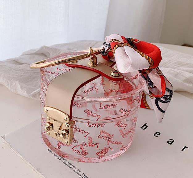 New-2020 New Fashion Scarf Wild Handbag Retro Small Round Bag Drop Shipping