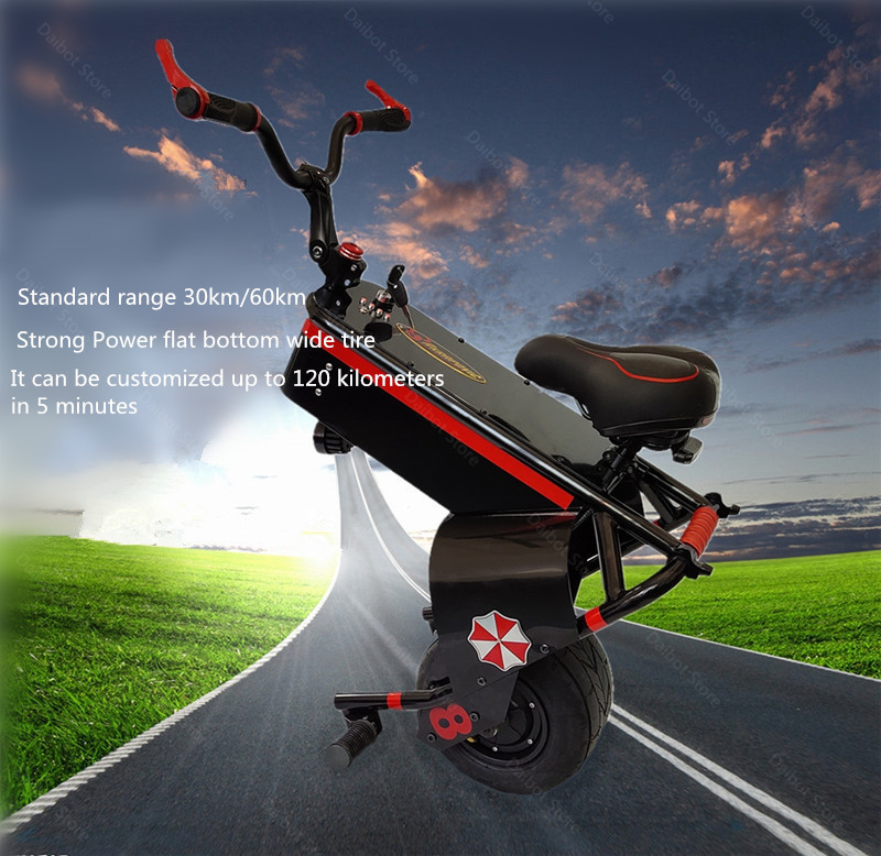 Electric Scooter 1500W One Wheel Self-balancing Scooter Motorcycle Seat 110KM 60V Electric Monowheel Scooter 18 Inch Wide Wheel (17)