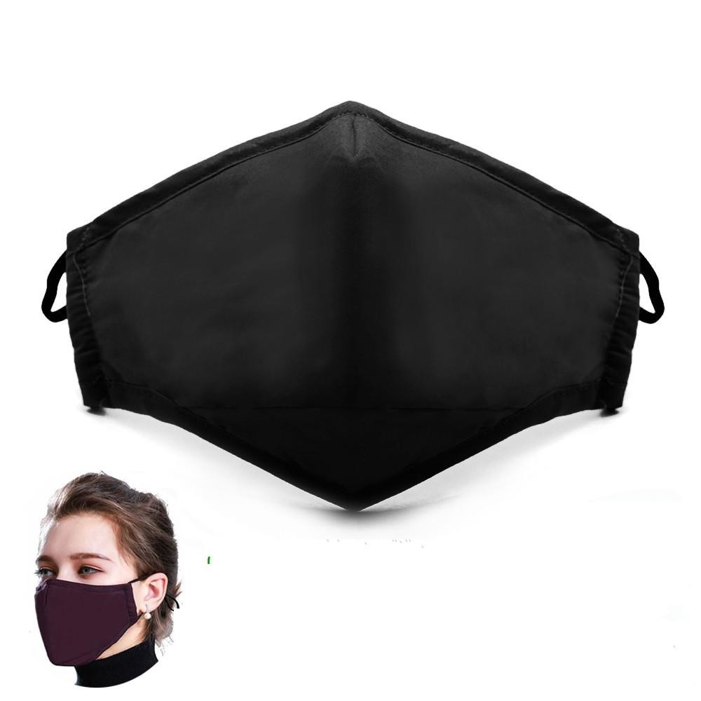 24H DHL Shipping Cotton PM2.5 Black Mouth Anti Dust Face Mask with Activated Carbon Filter Windproof Mouth-muffle for Men Women