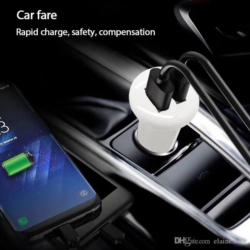 5V 3.1A LED light Dual USB Port Car Charger Mini Fast Car Charging Adapter For iphone Samsung HTC Tablet PC MP3