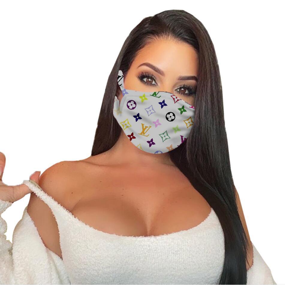 7 style brand fashion unisex face masks washable breathable luxury designer mask trendy print reusable windproof anti-dust cycling masks