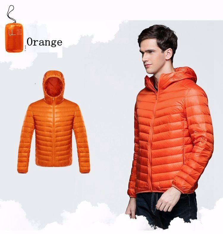 Brand Winter Jacket Men New Couples Coats Ultra-light Slim Fit Stand-Collar Cotton-Padded Solid Parkas Duck Down 3XL X320