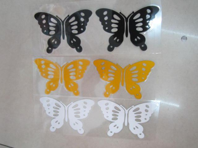 100PRCheap Wholesale Butterfly Stickers Decals For Car/Wall Reflctive 18*5cm From China